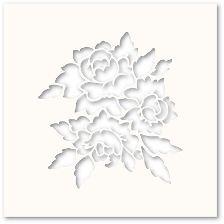 PoppyStamps - Bright Blossoms Stencil