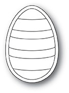 Poppy Stamps - Die - Striped Egg