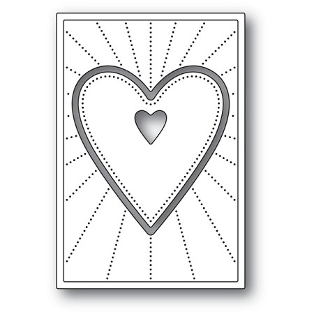 Poppy Stamps - Die - Deco Shining Heart