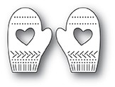 Poppy Stamps - Die - Pinpoint Heart Mittens