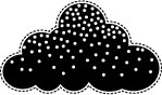 Poppy Stamps - Cling Mounted Rubber Stamp - Big Snow Cloud