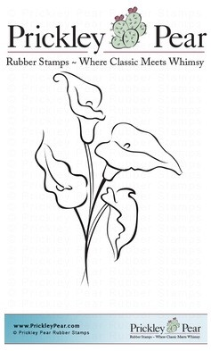 Prickley Pear - Cling Stamp - Calla Lilies