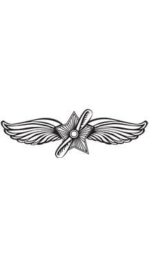 Prickley Pear - Cling Stamp - Pilot Wings