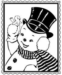Prickley Pear-Cling Stamp-Snowman Posstage