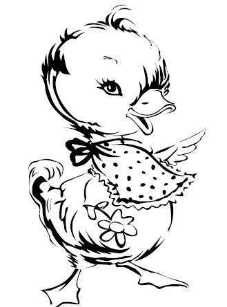 Prickley Pear - Cling Stamp - Duck with Bib