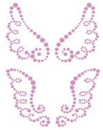 Prima Say it in Crystals - Small Amethyst Wings -