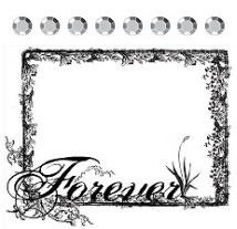 Prima Collage Stamp - Forever Frame