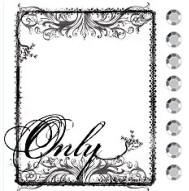 Prima Collage Stamp - Only Frame
