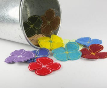 Prima Stitched Wildflowers - Fan