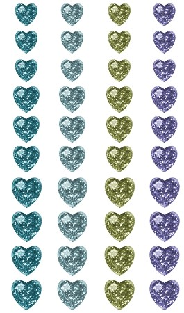 Prima-SIIC Single Crystals-Hearts Blue/Green :)