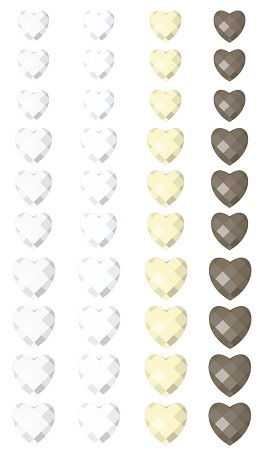 Prima-SIIC Single Crystals-Hearts White/Cream :)