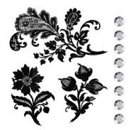 Prima Collage Stamp - Flowers