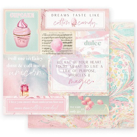 "Prima - Dulce Collection - Fairy Dust 12""x12"" paper"