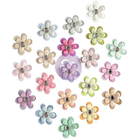 "Prima - Planner Flowers - Milla (20 tiny flowers - 0.625"")"