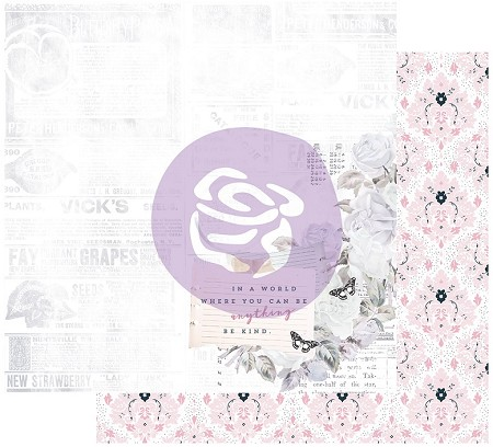 "Prima - Poetic Rose Collection - Kindness Takes Over 12""x12"" Cardstock (foil accent)"