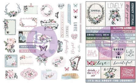 Prima - Poetic Rose Collection - Ephemera & Stickers