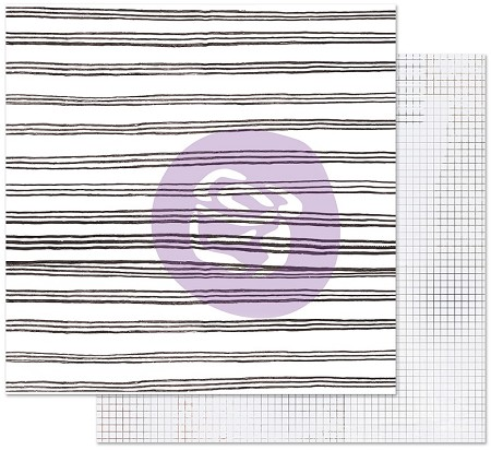 "Prima - Pretty Pale Collection - Blurred Lines 12""x12"" Cardstock (foil accent)"