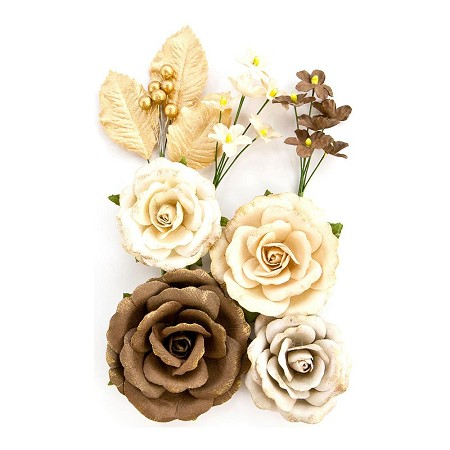 Prima Amber Moon Collection Aspen Paper Roses