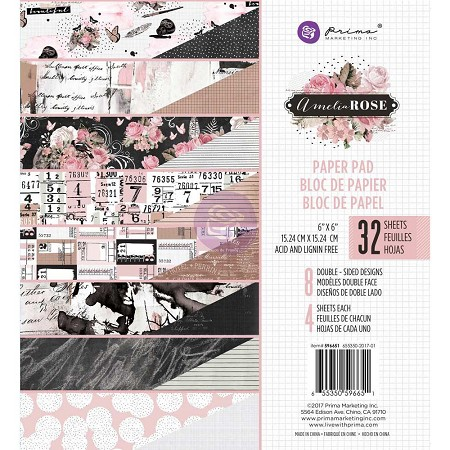 Prima - Amelia Rose Collection - 6x6 Paper Pad :)