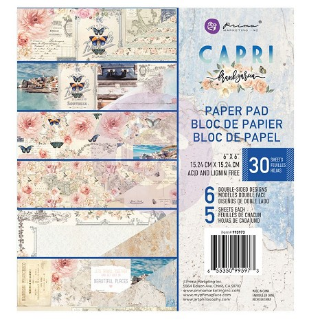 Prima - Capri Collection - 6x6 Paper Pad