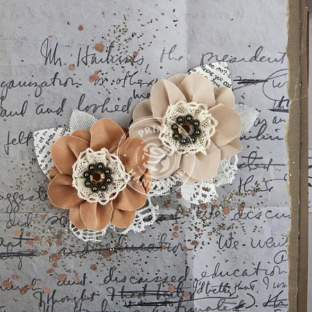 Prima - Fairfield Fabric Flowers - Cinnamon