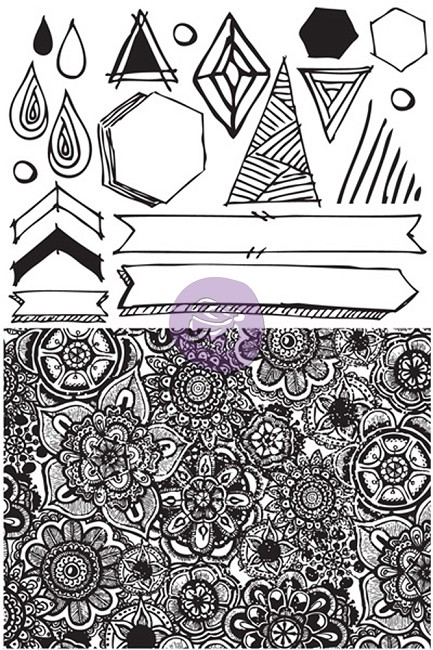 Prima - Free Spirit Collection - Cling Mounted Rubber Stamp