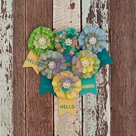 Prima - Free Spirit Collection -  Paper Flowers - Outta Sight :)