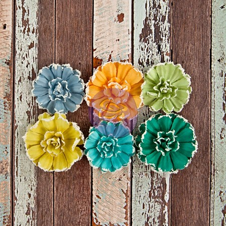 Prima - Free Spirit Collection -  Paper Flowers - Funky