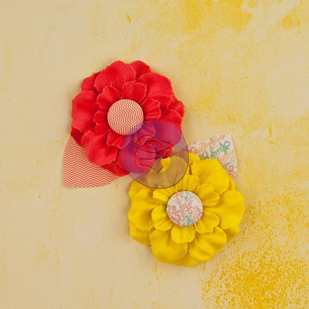 Prima - Bloom Girl Collection - Fabric Flowers - Garden Fresh