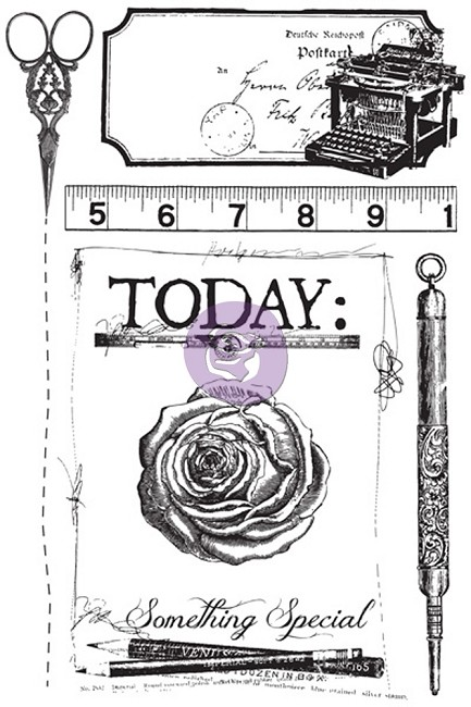 Prima - Stationers Desk Collection - Cling Stamp Set :)