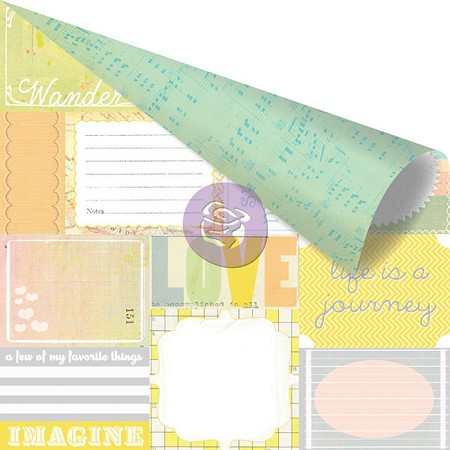"Prima - Free Spirit Collection - 12""x12"" Double Sided Cardstock - Expressive"