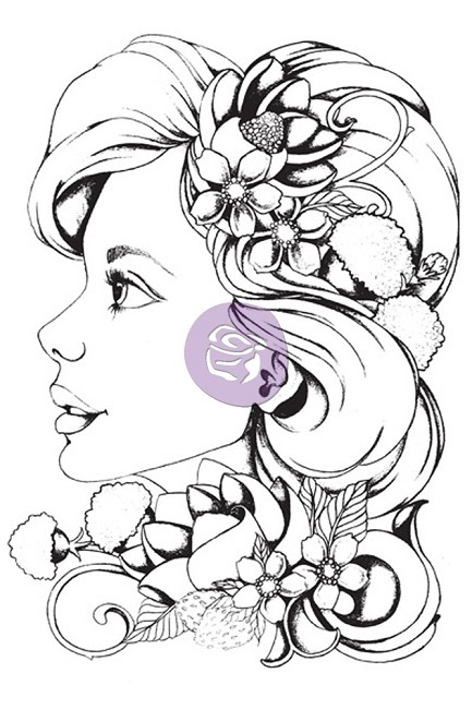Prima - Bloom Girl Collection - by Jamie Dougherty - Cling Stamp Set - Sophie :)