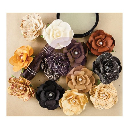 Prima - The Archivist Collection - Paper Flowers - Ledger :)