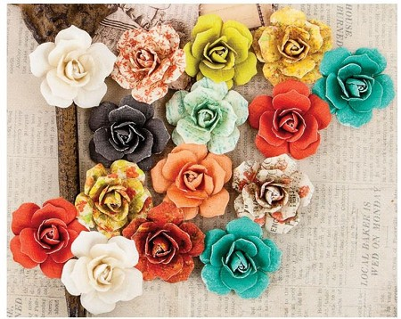 Prima - Bella Rouge Collection - Paper Flowers - Leola