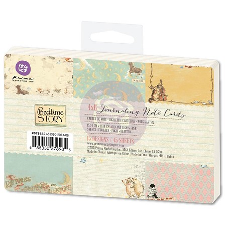 "Prima - Bedtime Story Collection - Journaling Notecards 4""x6"""