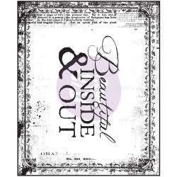 Prima - Bella Rouge Collection - Mini Clear Stamp - Beautiful Inside & Out