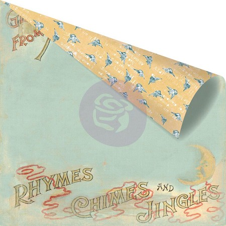 "Prima - Bedtime Story Collection - 12""x12"" Double Sided Cardstock - Mother Goose"