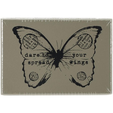Prima - Wood Mounted Stamp - Butterfly 2 by Finnabair