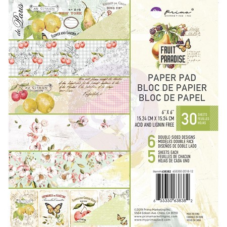 Prima - Fruit Paradise Collection - 6X6 Paper Pad