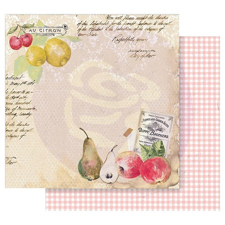 "Prima - Fruit Paradise Collection - Sweet And Citrus 12""x12"" paper"