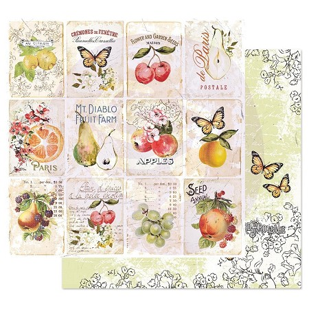 "Prima - Fruit Paradise Collection - Fruit Lover 12""x12"" paper"