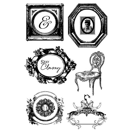 Prima - Debutante Collection - Cling Stamps