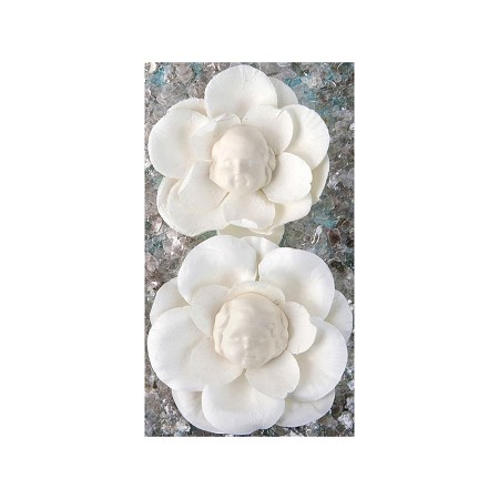 Prima - Paper Flower with Resin Face - Trudy
