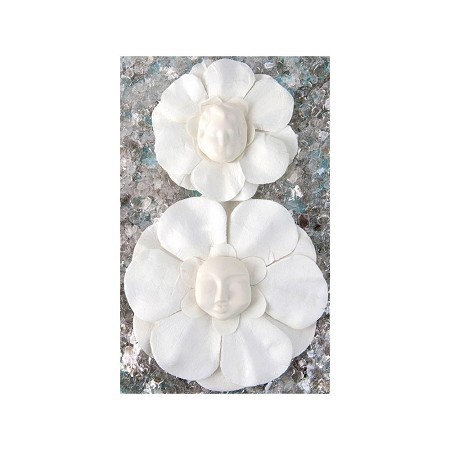 Prima Paper Flower With Resin Face Sue