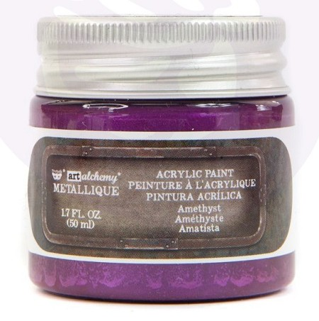 Prima - Art Alchemy Acrylic Paint - Metallique Amethyst by Finnabair
