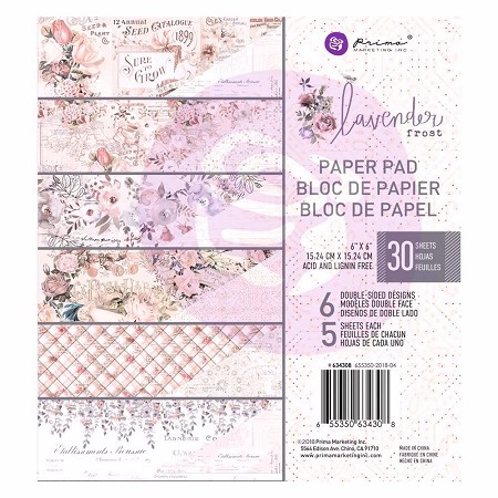 Prima - Lavender Frost Collection - 6x6 Paper Pad
