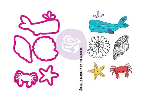 Prima - Julie Nutting Collection - Sea Life Stamp & Die
