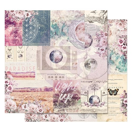 "Prima - Moon Child Collection - 12""x12"" Cardstock - Galactic Love (foil accent)"