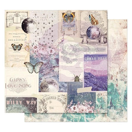 "Prima - Moon Child Collection - 12""x12"" Cardstock - Lunar Peak (foil accent)"