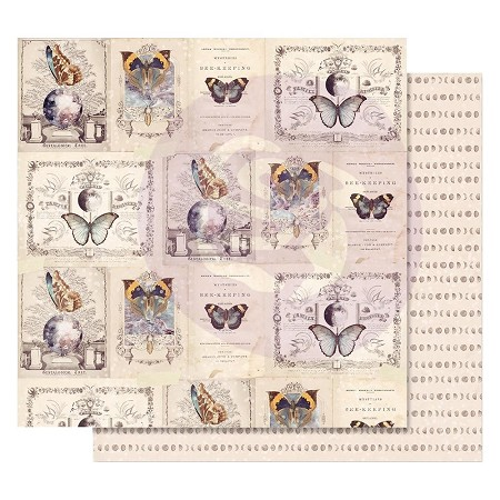 "Prima - Moon Child Collection - 12""x12"" Cardstock - Phases Of The Moon (foil accent)"